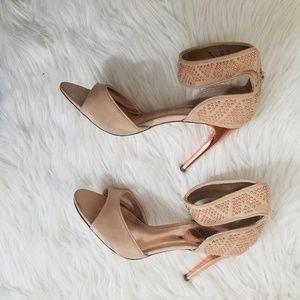 Carlos Santana claret rose gold heels 7.5